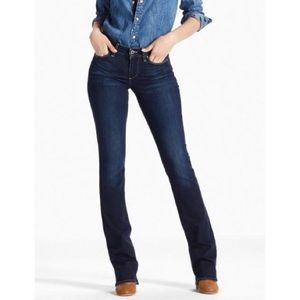 Lucky Brand Sweet Boot Twilight Blue Mid Rise 31